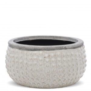 osłonka na doniczke ceramiczna biała