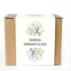 organiczna świeca sojowa z drewnianym knotem