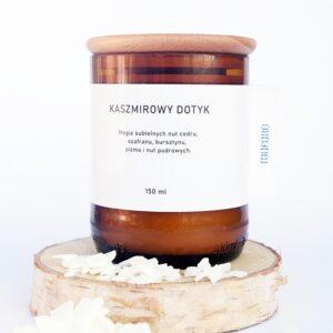świeca sojowa z drewnianym knotem kaszmir