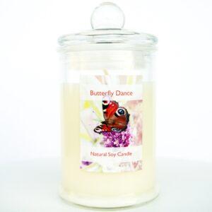 świeca z wosku sojowego o zapachu gruszek